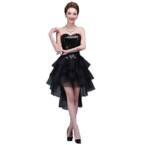 ZWGYQ Europäische Und Amerikanische Kurze Und Lange Leistung Kostüme Koreanische Bankett Abendkleid Rohr Top Kleid,L