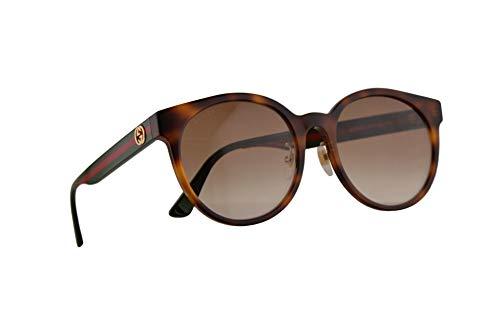 Gucci GG0416SK Sonnenbrille Havana Braun Mit Braunen Verlaufsglas Gläsern 55mm 005 GG0416/SK 0416/SK GG 0416SK