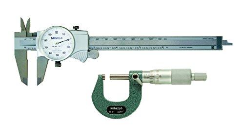 Pkg Fall (Mitutoyo 64pka074b Werkzeug Pkg, mechanisch mit 15,2cm Zifferblatt Bremssattel, 2,5cm Außerhalb Mikrofon, Fall (Pack von 3))