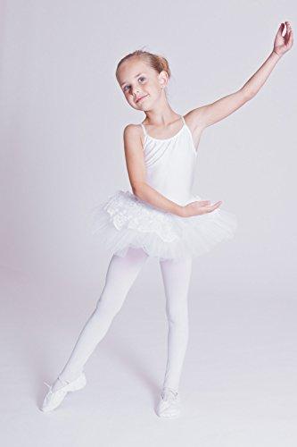 tanzmuster Kinder Ballett Trikot mit Tutu