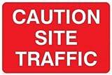 Verboten Hinweisschild: Vorsicht Seite Traffic-nur Text (Größe: 300x 200Material: selbstklebende Vinyl-Zeichen)