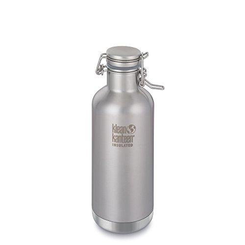 Klean Kanteen Edelstahl-Isolierflasche mit 900 ml Fassungsvermögen und Bügelverschluss, Unisex, K32VCSLK-BS, Edelstahl, gebürstet, 32-Ounce -