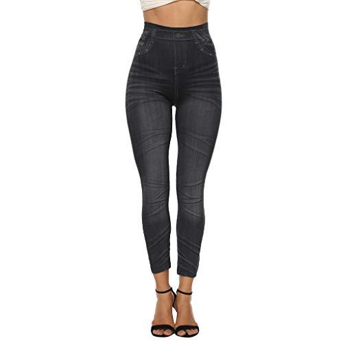 Epig Ladies'printed Jeans Bottoms Hip Lift Overshoot und Slim Nine-Minute Pants -