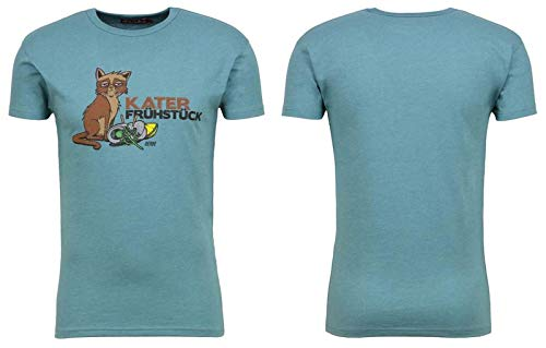 derbe Hamburg Herren T-Shirts, Größe:M, Hamburg :Katerfrühstück - Mineral Melange
