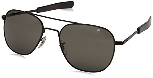 AO Eyewear American Optical Original Pilot-Sonnenbrille, 52mm, schwarzer Rahmen mit Bajonett-Bügeln
