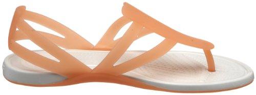 Crocs Adrina Strappy Sandal Women, Sandales femme Rouge (Grapefruit/Oyster)