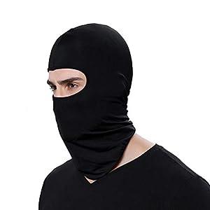 Pudincoco Einfarbig Staubdicht Männer Frauen Taktische Motorrad Radfahren Jagd Outdoor Ski Gesichtsmaske Helm Vollmaske (schwarz)