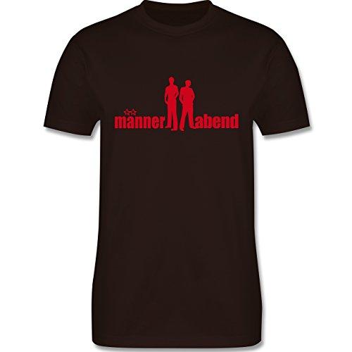 JGA Junggesellenabschied - Männerabend - Herren Premium T-Shirt Braun