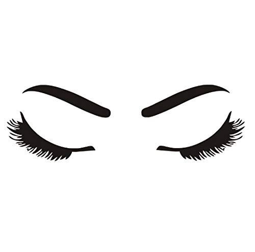 Wandaufkleber PVC Silhouette Schöne Mädchen Wimpern Und Augenbrauen Für Wohnzimmer DIY Wallpaper Decals Home schlafzimmer Dekoration - Schönen Speisesaal Möbel