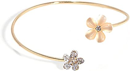 Yellow Chimes Flower Collection Opal Charm Bracelet for Girls (Rose Gold)(YCFJBR-04OPL-RG)