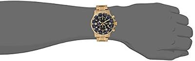 THE INVISIBLE CHEF 14878 - Reloj de cuarzo para hombre, con correa de acero inoxidable chapado, color dorado de Invicta