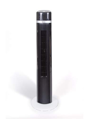 Midea Ventilatore a Torre con Telecomando Remote Control 3 impostazioni di velocità e di vento Tecnologia Silence