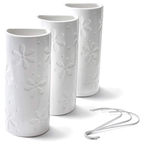 Umidificatore in ceramica per termosifoni, motivo floreale, 3 pezzi