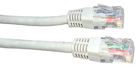 5m de câble réseau Blanc - qualité professionnelle - CAT5e (amélioré) - 100% fil de cuivre - RJ45 - Ethernet - Patch - sans fil - Routeur - Modem - 10/100 - 5,0