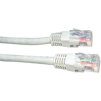 50m de câble réseau Blanc - qualité professionnelle - CAT5e (amélioré) - 100% fil de cuivre - RJ45 - Ethernet - Patch - sans fil - Routeur - Modem - 10/100 - 50,0 m