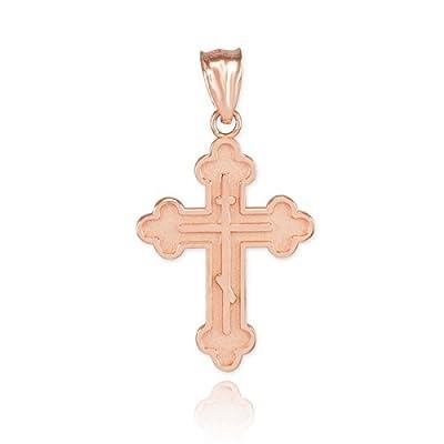 Kleine Schätze - 10 Karat Rotgold Russisch-orthodoxen Kreuz