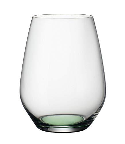 Villeroy & Boch Colourful Life Green Apple Wassergläser, 4er-Set, 420 ml, Kristallglas, Klar/Grün