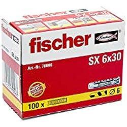FISCHER 070006 - Taco nylon SX 6x30 (Envase de 100 ud.)