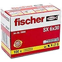 Fischer 37430 Taco SX-6 Caja 100, 0 W, 0 V, Gris, 6x30