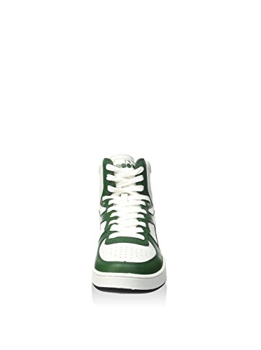 Diadora Unisex Bianco Adulto Sneaker Mi Basket Verde alte T8xZqTrw4