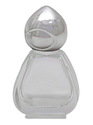 2 Pcs Gros Aromathérapie Rechargeable Vide Rouleau De Verre Clair Sur Les Bouteilles D'Huiles Essentielles Capuchon Argenté Parfum Flacon Roulant 5 Ml