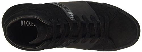 BIKKEMBERGS Herren Rubb-Er 750 Mid Shoe M Suede High-Top Schwarz