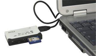 Preisvergleich Produktbild Chipkartenleser ''CR Expert'', USB 2.0 für CF bis 16 GByte, SD/MiniSD/MicroSD bis 8 GByte