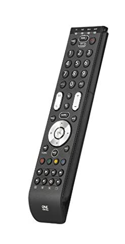 One For All Essence 4 Universal remote control - Black – Controls 4 devices -TV Set Top Box DVD Blu-ray player and Audio devices - Guaranteed to work all brands. URC7140