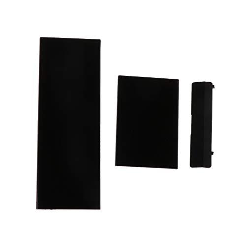 GROOMY Ersatz-Speicherkarten-Türschlitzdeckeldeckel 3 Teile Türabdeckungen für Nintendo Nintend Wii Console -