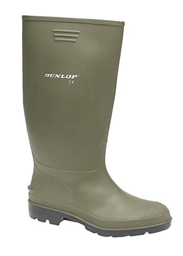 Mens Dunlop Green Wellies Wellington Boots