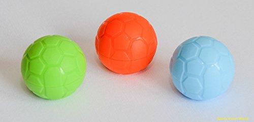 Nuovo 3 x Box Custodia Conservazione Ammollo Lenti a Contatto Pallone Calcio Viaggio Astuccio Colori Misti