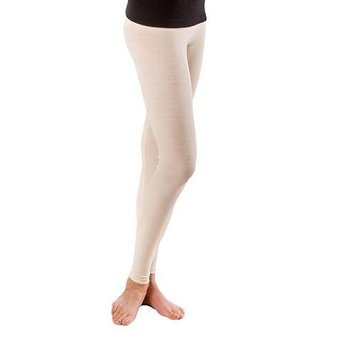 Women's Merino Wool & Mulberry Silk Leggings / Base Layer (Small 8-10, Natural ORGANIC wool)