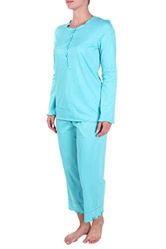 Rösch Damen Schlafanzughose Türkis
