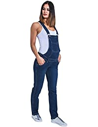 83c47c089b0 Uskees Maternity Dungarees - Darkwash Denim Blue Pregnancy Overalls  Maternity Fashion Grace