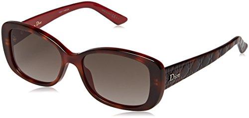 Christian Dior Damen Sonnenbrille Ladyindior2 Ha, Schwarz (Havana), 53 (Christian Havana Sonnenbrille Dior)