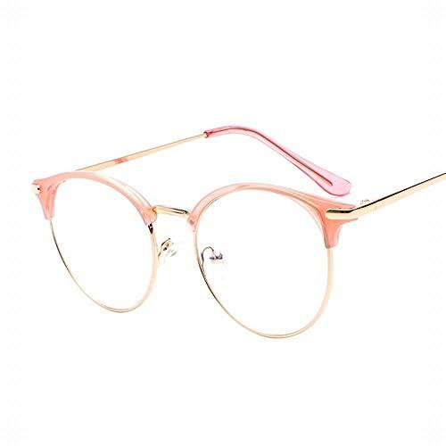 Frauen Retro Brillengestell Flat Mirror Nicht verschreibungspflichtige klare Linsen Brillen. Brille (Farbe : C3)