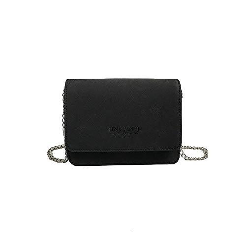 HCFKJ Tasche, Super Fire Bag Diagonal Fee Kette Tasche Kleine Tasche Frauen Flut Retro Tasche (BK)