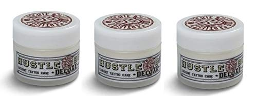 Hustle Butter Deluxe - Vegan Tattoo Care - 3 x 30ml (3oz)...