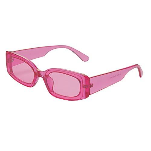 YAM DER Unisex Vintage Sonnenbrillen,Retro Eyewear Fashion Strahlenschutz,Schwarz,Oval Brille,UV400 - Verspiegelte Gläser,Nacht Vision Blendschutz Brille,Sportbrille,Anti-blaues Licht (Rosa)
