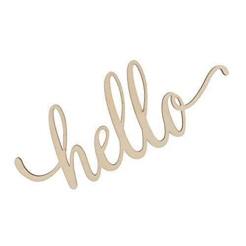 SeaStart Holzbuchstaben Deko Schriftzug Hello Dekobuchstaben 3D Wanddeko, Gold