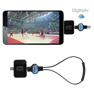 Tradico® Brand New Micro USB OTG ATSC Digital Mobile Live TV Tuner Receiver for Android Phone Pad F