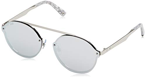 5b195f4dee Web WE0181, Gafas de sol Unisex Adulto, Gris (Shiny Rhodium/Smoke Mirror