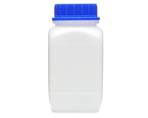 Octopus 1500 ml Weithals-Flasche mit Schraubverschluß, Chemiekalienflasche, Laborflasche mit Deckel als Aufbewahrungsbehälter für Labor, Küche oder Hobby