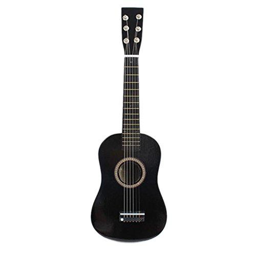Guitarra - SODIAL(R)23' Guitarra Mini Guitarra Juguete musical de ninos de tilo Instrumento de cuerdas acustica con plectro 1A Cuerda Negro