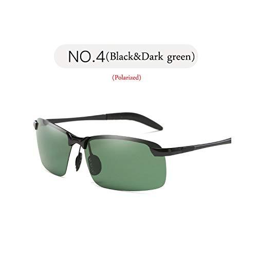 Sport-Sonnenbrillen, Vintage Sonnenbrillen, NEW Classic Polarisiert Sunglasses Men Brand Designer Metal Sun Glasses Women Shopping Travel Driving Oculos De Sol Black Dark Green