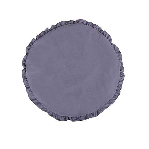 LITIANTIAN-Crawling Mat Baby Krabbeldecke Spielmatte Weiche Runde Teppich Gepolsterte Spielmatte Plüsch Kissen Dekoration für Kinderzimmer Für Babys Mädchen Jungen (Baby Spielmatte Plüsch)