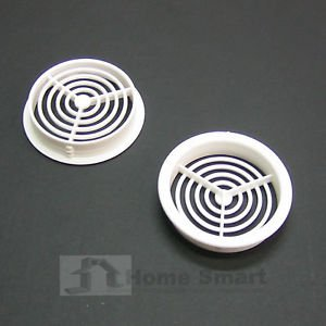 10 x 70mm White Plastic Round Soffit Air Vents /