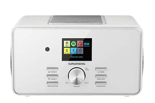 "Grundig DTR 6000 2.1 BT DAB+ WEB ""All-in-one\""-Internetradio mit Bluetooth, Multiroom und Empfang Weiß"