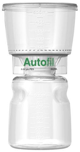 autofil steril Einweg Vakuum Filter Einheiten mit 0.2um Sterilisieren PES Membran, 500ml, 12/CS (0.2 Einheiten)