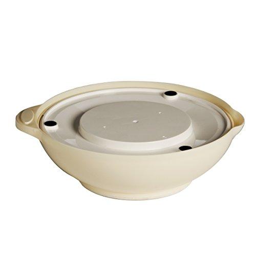 Premier Housewares Runde Küchenwaage, mit Schale, 3 kg, creme